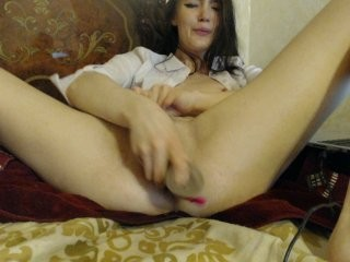 badteacher doing it solo, pleasuring her little pussy live on webcam
