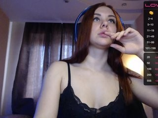 -ginger- redhead being naughty and seductive on a live webcam