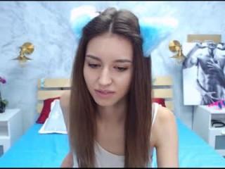 evelinaneks teen doing it solo, pleasuring her little pussy live on webcam